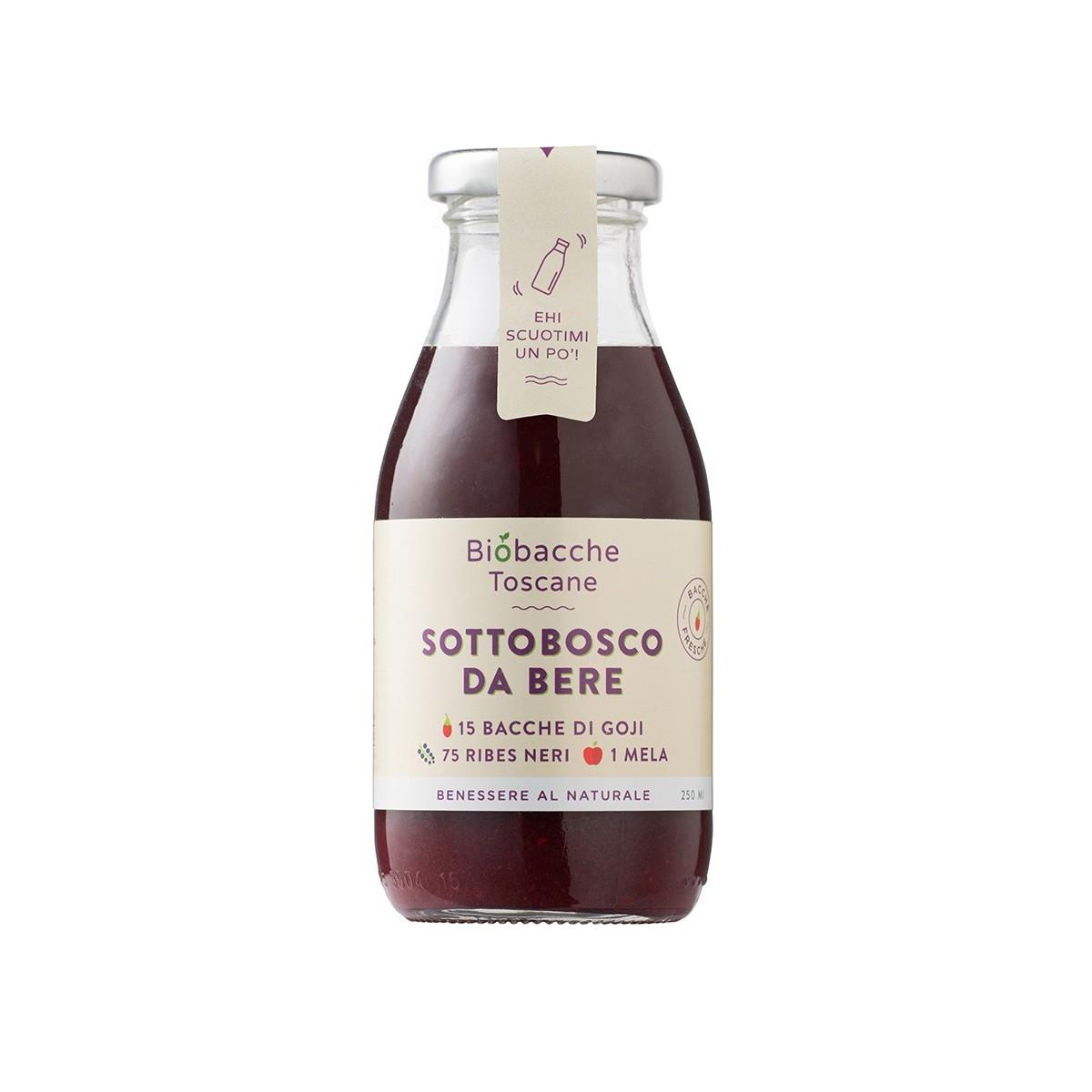 Sottobosco da bere - Estratto di Frutta 15 Bacche di Goji, 75 Ribes Nero, 1 Mela