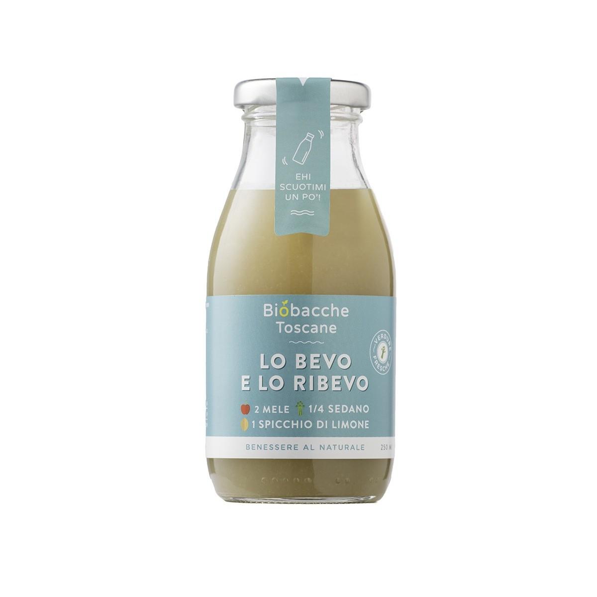Lo Bevo e lo Ribevo - Estratto di Frutta e Verdura 2 Mele, ¼ Sedano, 1 Spicchio di Limone