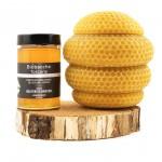 Vasetto a base di Cera d'api e Miele millefiori bio da 250 g